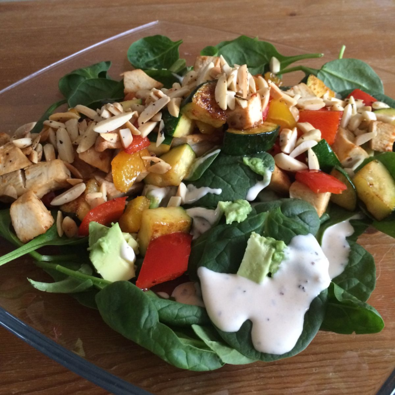 Go To Whole30 Meals : Meat and Veggies on Greens // Wide Eyed with Wonder