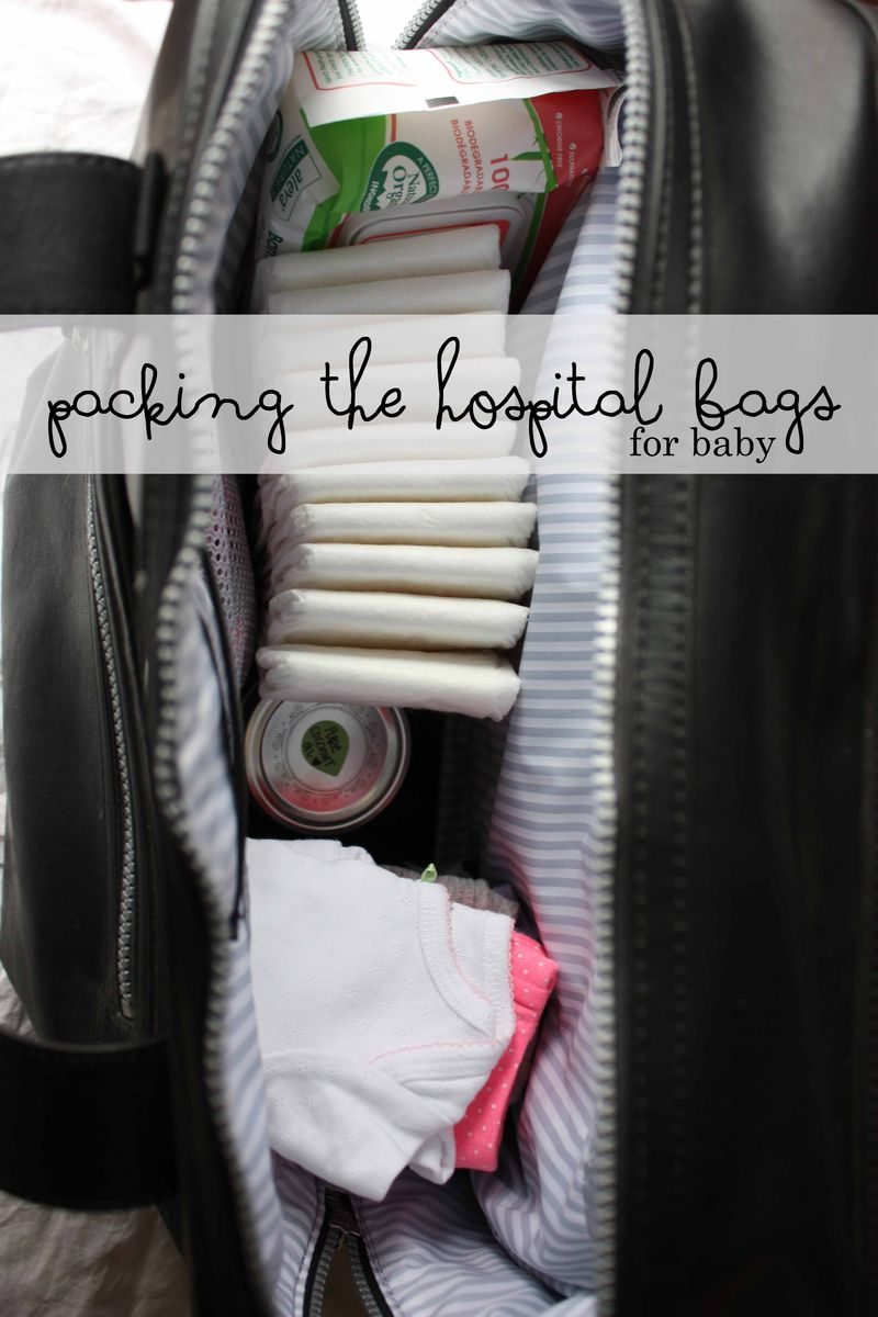 Packing a Hospital Bag - For Baby // Wide Eyed with Wonder